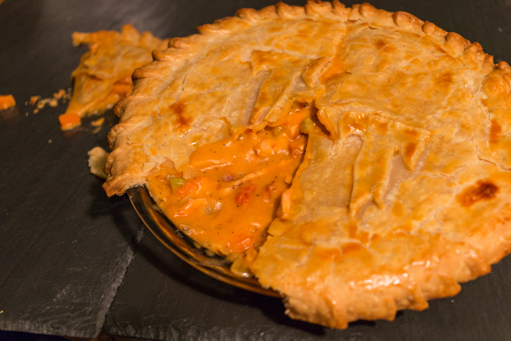 National Pi Day buffalo wing pot pie